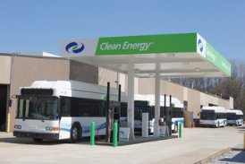 Bus fueling station CNG