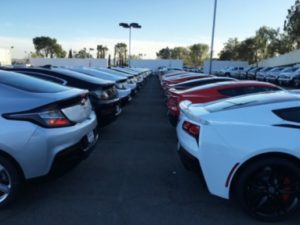EVs on dealer lots