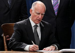 Gov. Jerry Brown signing bills