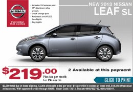 Leasing a Nissan Leaf