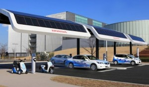 Solar powered EV charging station