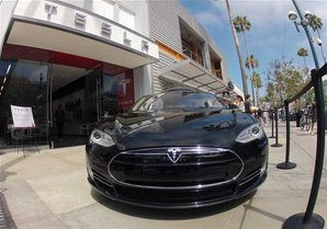 Tesla store in Santa Monica