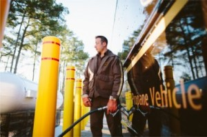 UPS propane fleet vehicle