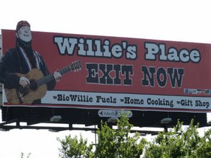 Willies Place exit sign