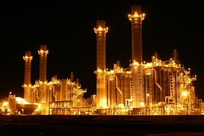 electric power generation at night
